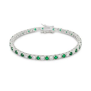 Emerald and Clear CZ Tennis