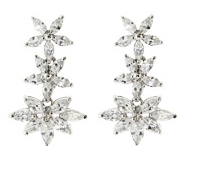 Floral Marquise CZ Earrings