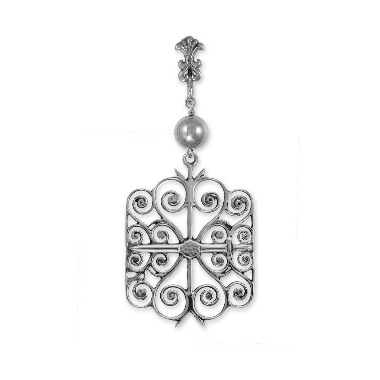 Citadel Large Pendant w/ Bead and Fleur