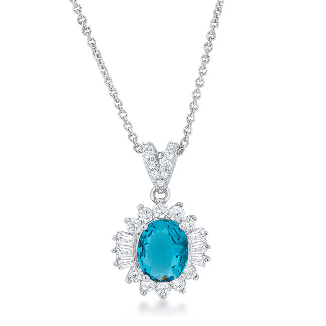 Accented Aqua Necklace