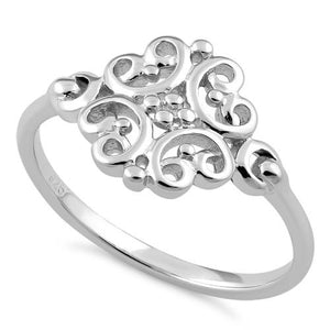 Celtic Flower Swirl Ring