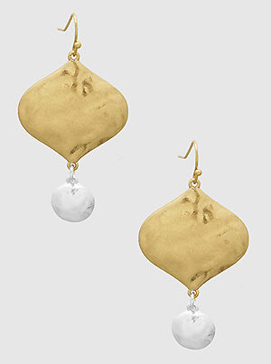 Gold and Silver Hammered Drops