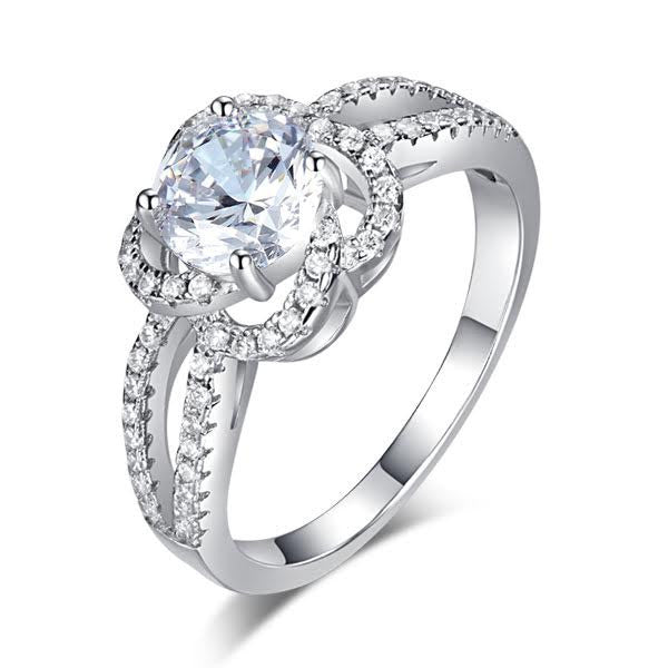 Accented Flower Ring