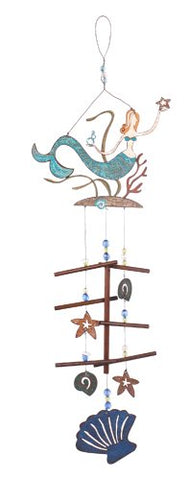 Sunset Vista Designs Great Outdoor Land and Sea Collection Wind Chime - Mermaid