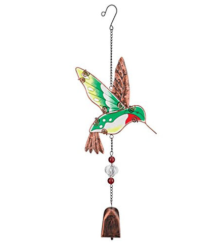 Regal Art & Gift Hummingbird Garden Bell, 5.5 Inches L x 1.5 Inches W x 17.75 Inches H
