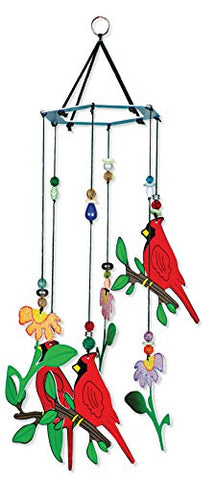 Sunset Vista Designs Birds Of A Feather Cardinal Wind Chime, 12-Inches Long