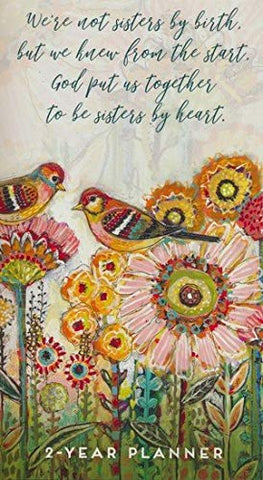2021-2022 2-Year Pocket Planner: Sisters by Heart