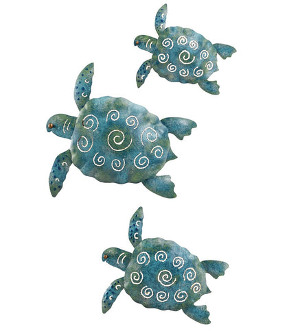 Regal Art and Gift Sea Turtle Wall Décor, Set of 3, Blue/Green