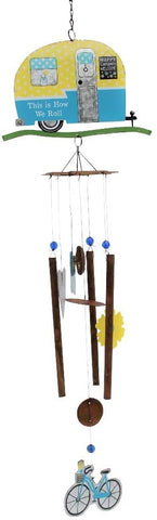 Sunset Vista Designs Blue Camper Wind Chime