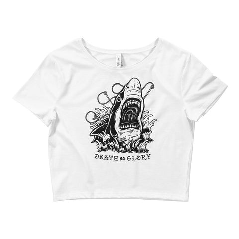 Death Or Glory Crop Top - Fathom Clothing, Alternative Clothing Company, Fathom Supply Co.