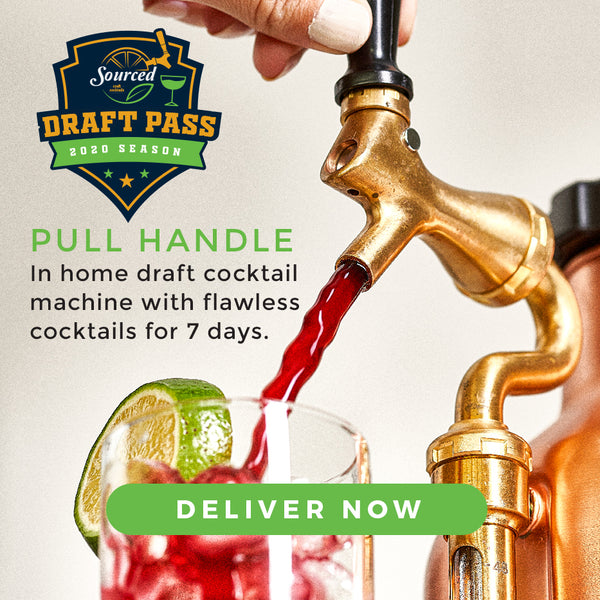 Draft Pass - Action Shot - Sourced: Craft Cocktails Delivered