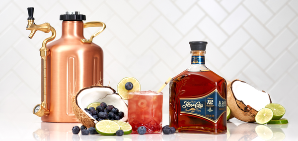 Flor de Caña Rhythm and Blueberries - Sourced: Craft Cocktails Delivered