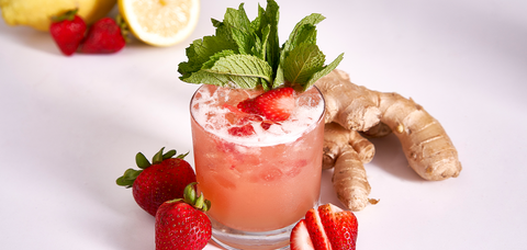 Strawberry Whiskey Smash - Sourced: Craft Cocktails Delivered