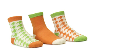 Houndstooth Orange 3 Pack Crew