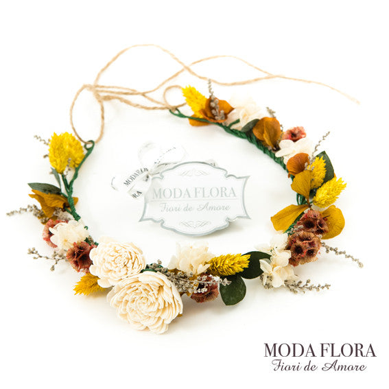 Floral Crown - Golden Sunset - MODA FLORA