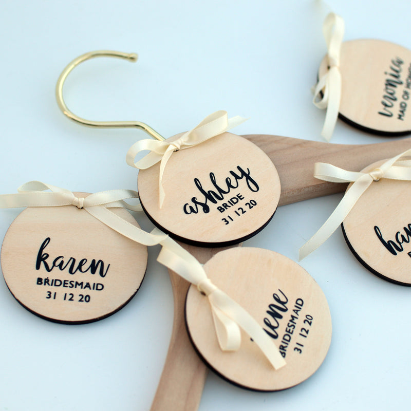 Personalised Wedding Coat Hanger Tag