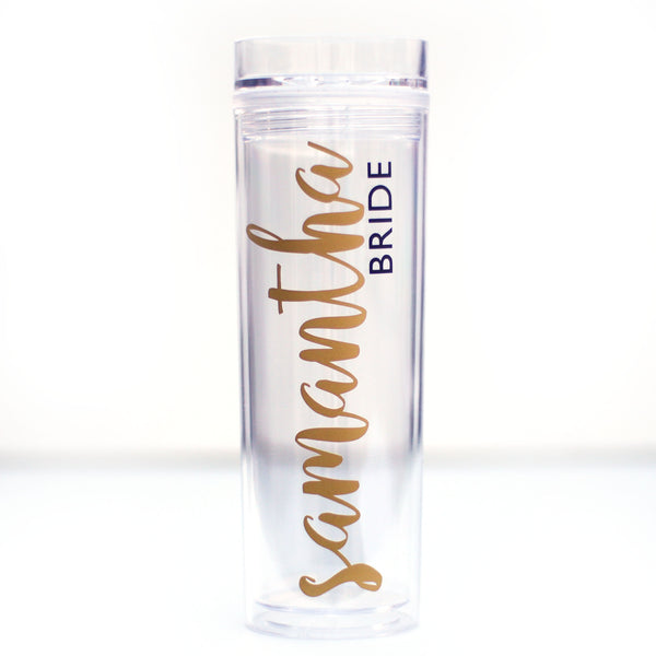 Personalised Clear Acrylic Tumbler  16oz