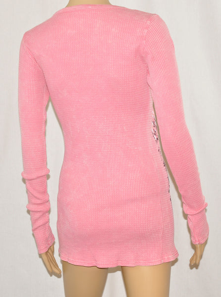 Long Sleeve Pink Thermal
