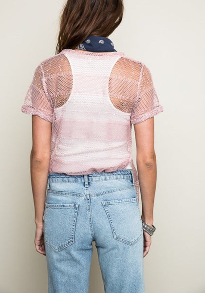 Short Sleeve Net Tee
