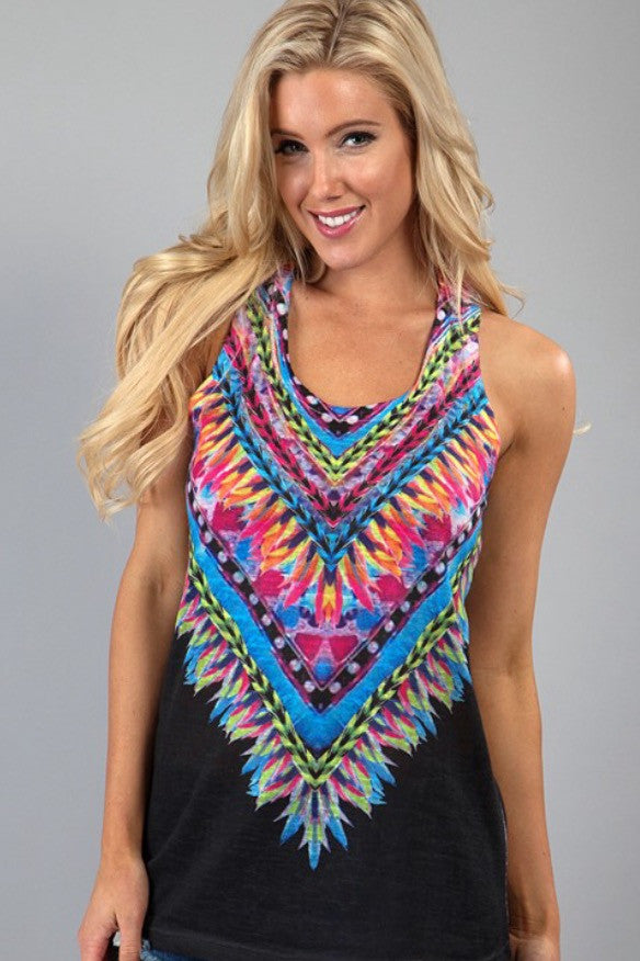 Feather Sublimation Knit Tank