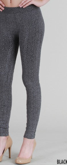 Braid Knit Leggings