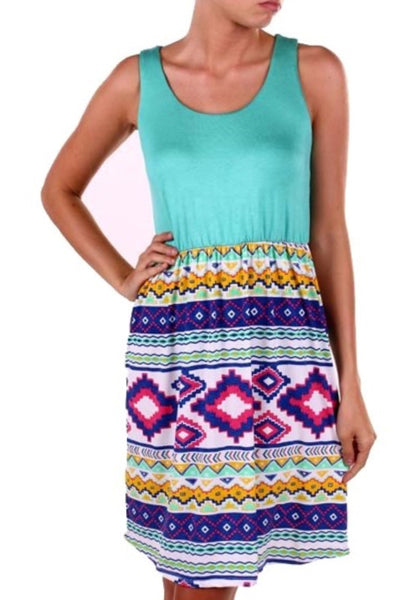 Aztec Design Tank Dress