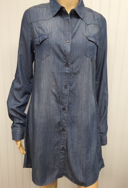Denim Long Sleeve Jackie Dress