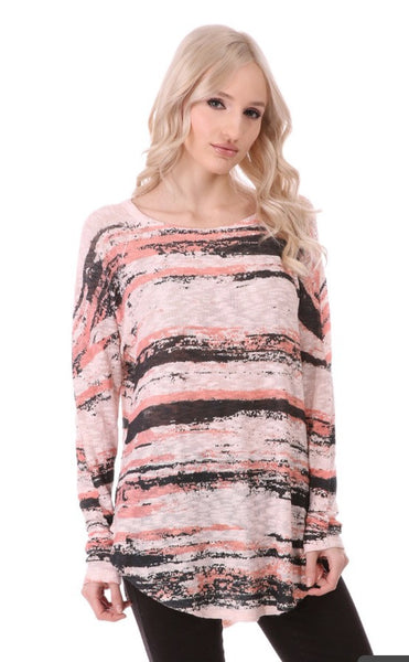 Long Sleeve Lightweight Round Neck Top