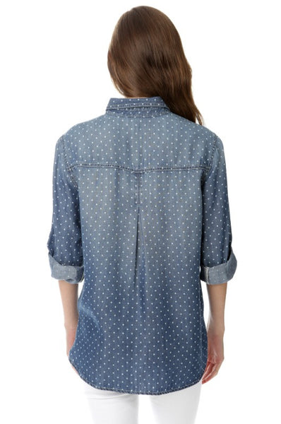 Denim Polka Dot Shirt