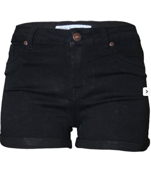 Black Denim Perfection Stretch Shorts