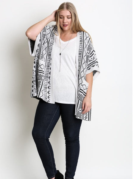 Geometric Oversized Cardigan