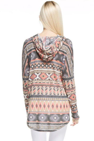 Aztec Print Light Pullover