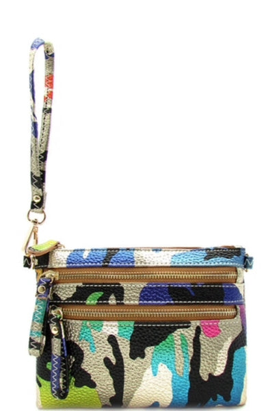 Designer Messenger Bag with Camouflage Print