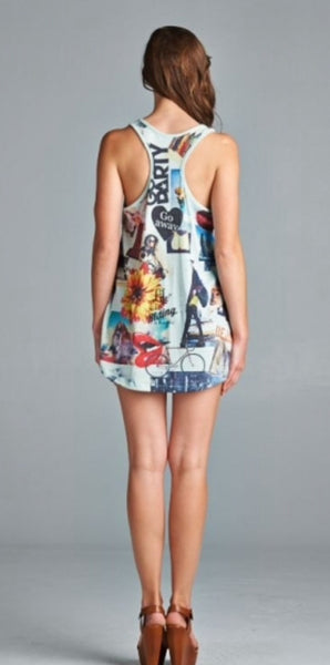 Photo Collage Sublimation Print Racerback Tank