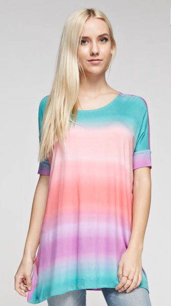 Multi Color Tie-Dyed Top