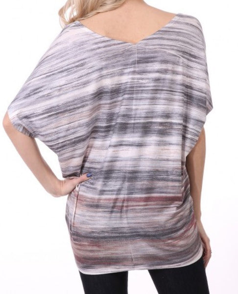 Short Sleeve Sublimation V-Back Top