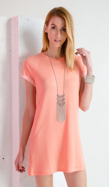 Jersey Knit Tee Shirt Dress
