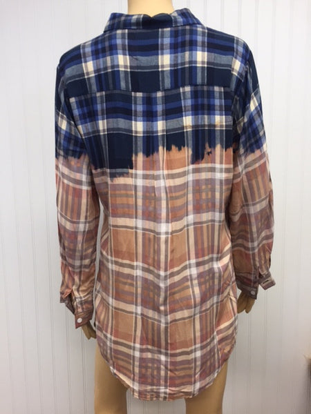 Woodstock Blue Plaid Top