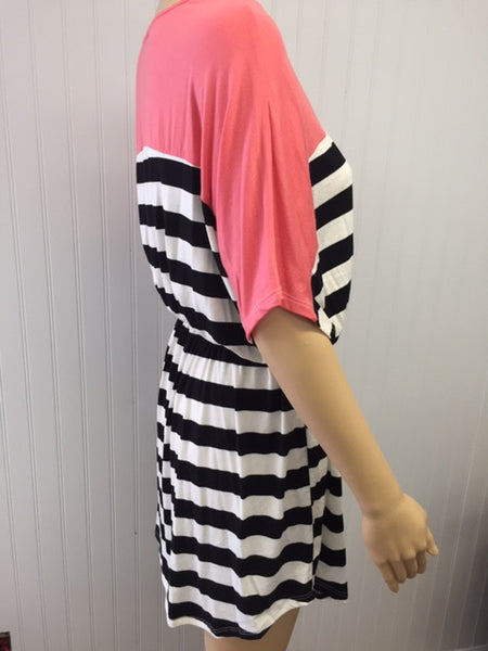 Black & White Stripe Tie Dress