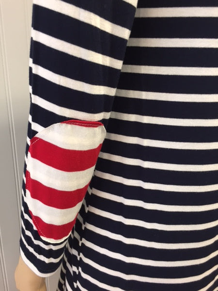Navy & White Stripe American Dress