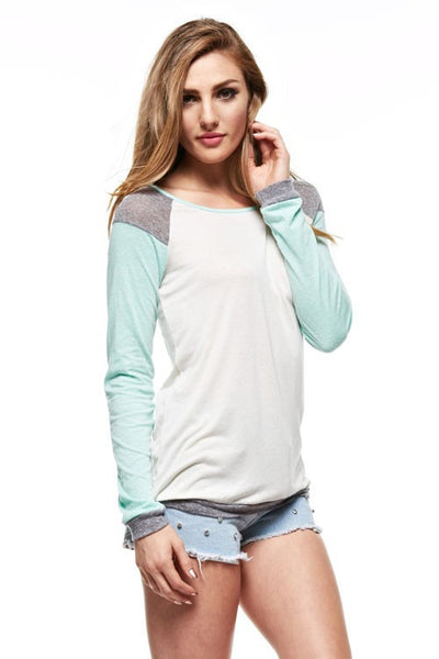 Long Sleeve Elastic Bottom Top