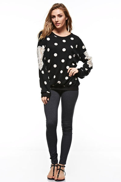 Black Polka Dot Sweater