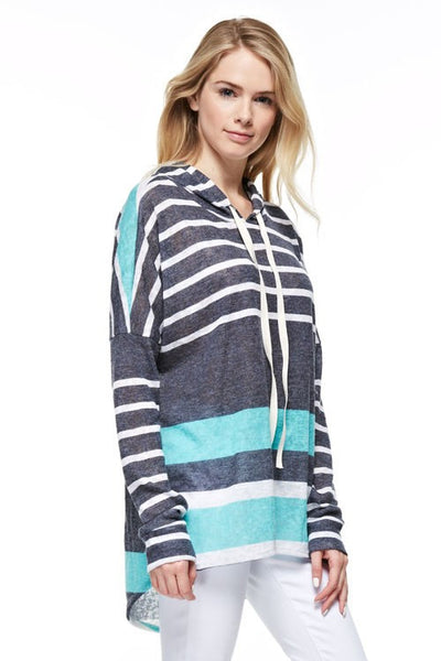 Striped Tunic with Hood