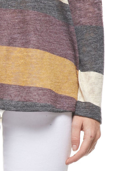 Long Sleeve Colorblock Tunic