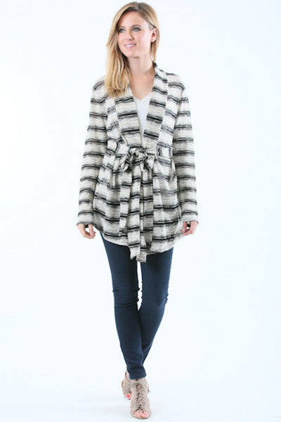 Sweater Tie Front Cardigan