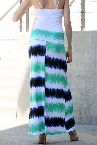 Stripe Printed Summer Maxi Skirt