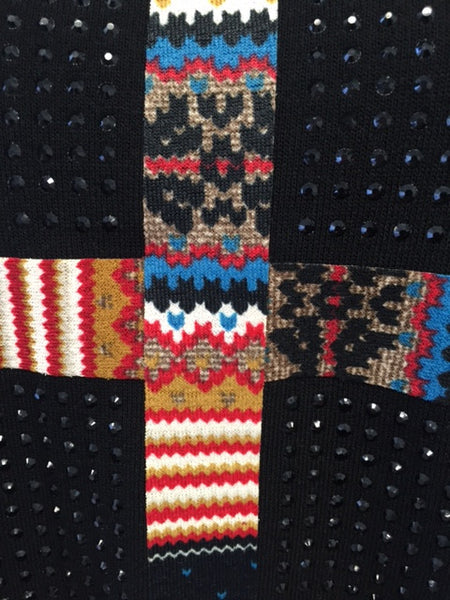 Beautiful Aztec Design Sweater with Gems