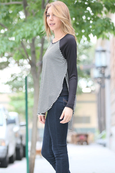 Long Sleeve Round Neck Fashion Top