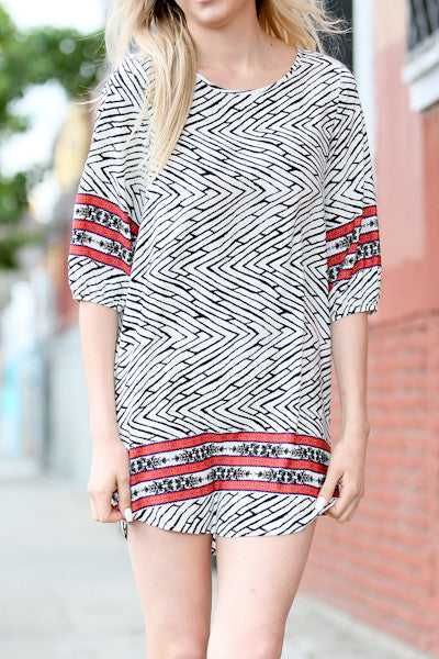 Zebra Band Printed Dress
