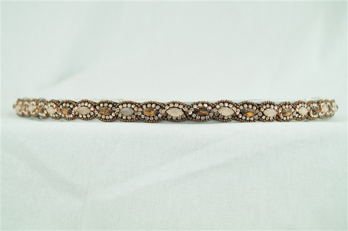 Stretch Band with Beaded Accents